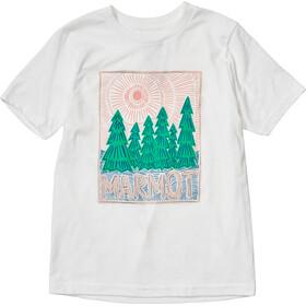 Marmot Nico Camiseta Manga Corta Niñas, blanco